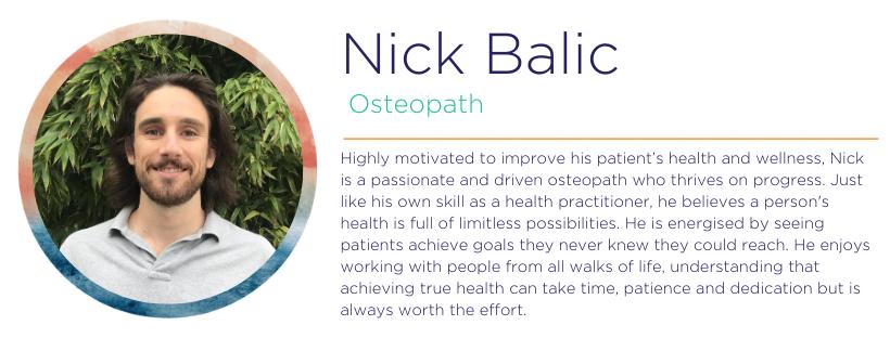 Osteopath Nick Balic